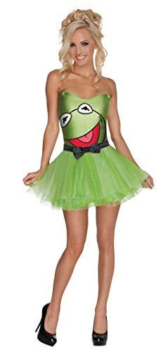 Horror-Shop Muppets Kermit Damenkostüm L (Kermit Der Frosch Kostüme Für Erwachsene)