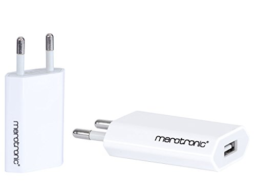 Original Merotronic® 2x USB Netzteil Stromadapter Ladegerät Reiseladegerät für iPhone 7 / 7 Plus, iPhone 6S / 6S Plus, iPhone 6 / 6 Plus, iPhone 5 / 5S / 5c, iPhone 4S / 4G, iPad mini / mini 2, iPod nano 7G in Weiß (Ipod Nano 4g Fall)
