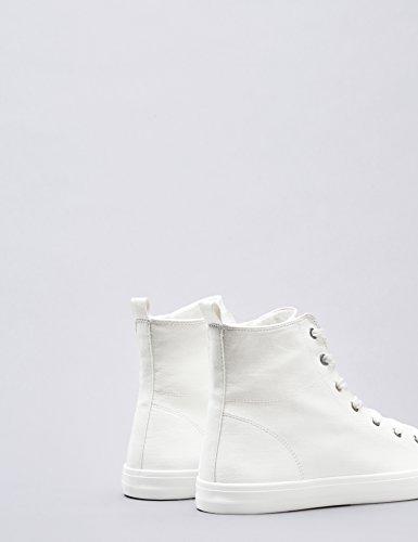 FIND Sneaker a Collo Alto Donna Bianco (White)