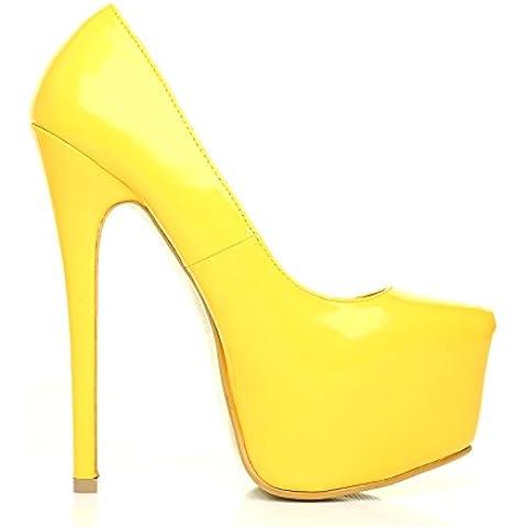 DONNA scarpe da donna modello stiletto tacco alto piattaforma colore