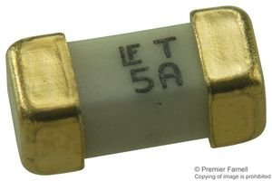Littelfuse Fuse, 5A, 125VAC/VDC, TIME DELAY, SMD 0452005.MRL Time Delay Fuses