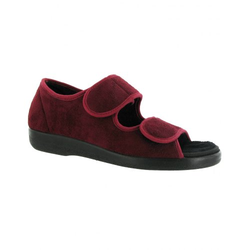GBS Brompton - Chaussons type sandales - Femme Bordeaux