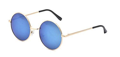 ALWAYSUV Retro Metall Vollrand Rahmen PC Verspiegelt Linse Unisex John Lennon Sonnenbrille Schutzbrille (Kostüme Runde Letzte)