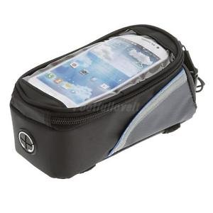 Alcoa Prime New Waterproof Cycling Bike Front Frame Pannier Tube Bag for Cell Phone Blue
