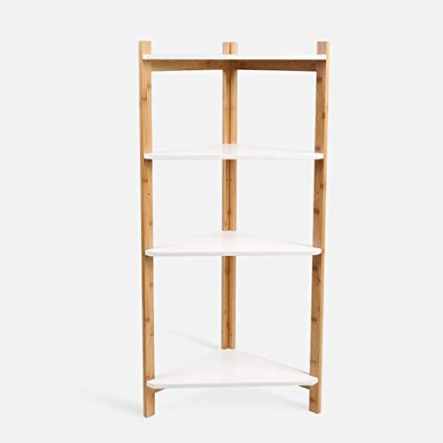 Bibliothèques Étagère d'angle en Bois de Bambou, Organisateur de Stockage Utilitaire, Support d'affichage pour décor de Support de Fleurs pour étagère, pour Bureau Salon Chambre