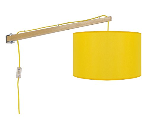 tosel-31445-newton-aplique-madera-haya-articulado-algodon-tejido-amarillo-600-x-250-x-250-mm