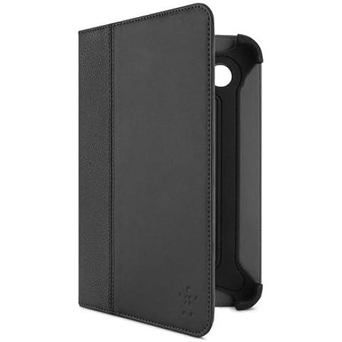 Belkin Cinema Leather - Funda para Samsung Galaxy Tab 2 (7 pulgadas, resistente a rayones), negro