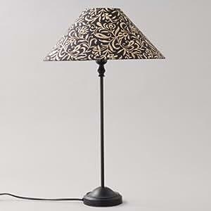 Amadeus - 36248 - Lampe abat jour brodé noir et or H45cm