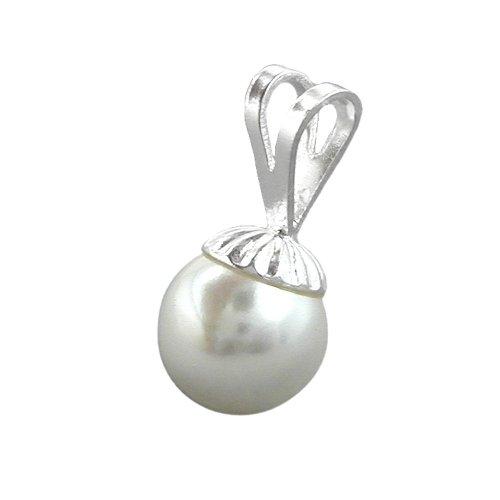 Anhänger 8mm Perle Imitat 925 Sterling Silber 90215