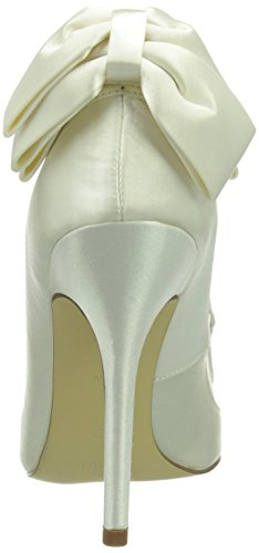Menbur Wedding Lua, Scarpe col tacco da sposa Donna Avorio (Elfenbein (Ivory 04))