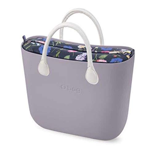 61796fb4fc Bolso Obag Completo color LilY Grey Asas Blanco Latte sacca Floral
