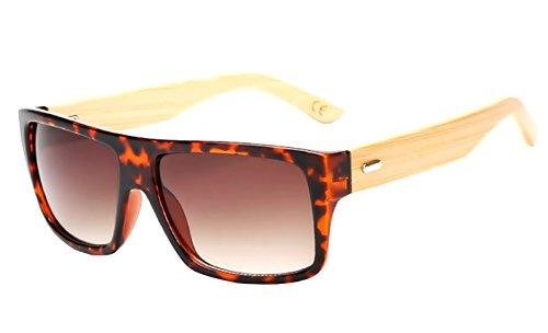 Inception Pro Infinite (Brown) Sonnenbrille - Wayfarer - Herren - Damen - Unisex - Spiegel - Holzoptik - Spiegel