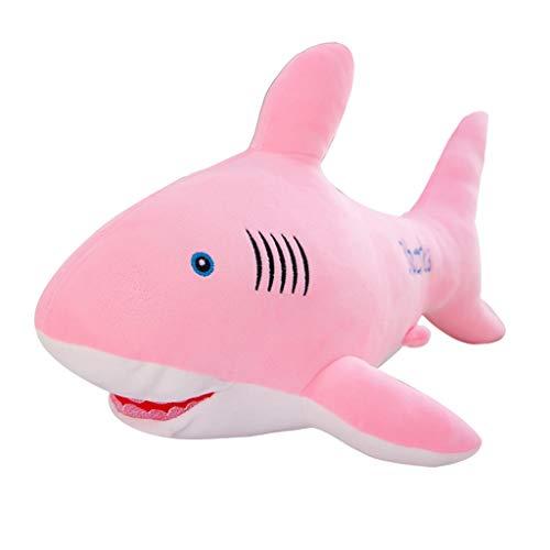 hark Stofftier Great White Shark Dolphin Whale Kissen Kissen Marine Tier Puppe Princess Zimmer Rosa Spielzeug Pink Stofftier (Color : Pink, Size : 120cm) ()