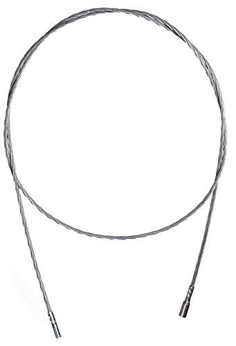 Kamin Schornstein Rohr (Schubstange Zugstab Kesslestab Flexstange für Kamin- und Ofenbürsten Kamin Rohr mit M12 Gewinde Kaminbesen - Schubstange für Schornsteinbesen Schornstein Kamin reinigen (10 Meter Flexdraht))