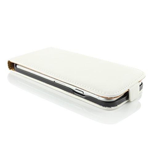 Apple iPhone 6 / 6s Handyhülle von original UrCover® in der Flip Edition Schutzhülle Edel Case Cover Etui Grün Weiss