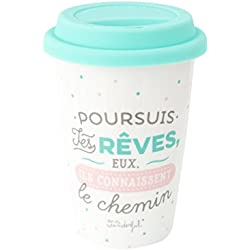 Mr. Wonderful woa03796fr taza take away poursuis tus ojos, Eux, ILS connaissent el camino, cerámica, multicolor, 10,3 x 10,3 x 14,4 cm