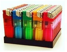 31tsueUfauL - 50 ELECTRONIC REFILLABLE LIGHTERS WITH ADJUSTABLE FLAME