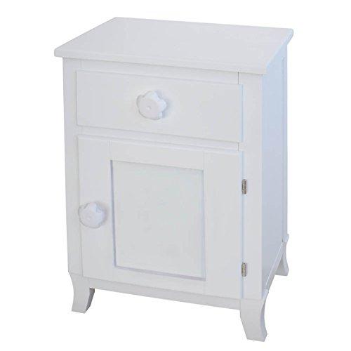 bainba Nachttisch Türknauf Tür Deckenleuchte mit Blume 33x43x66 cm weiß