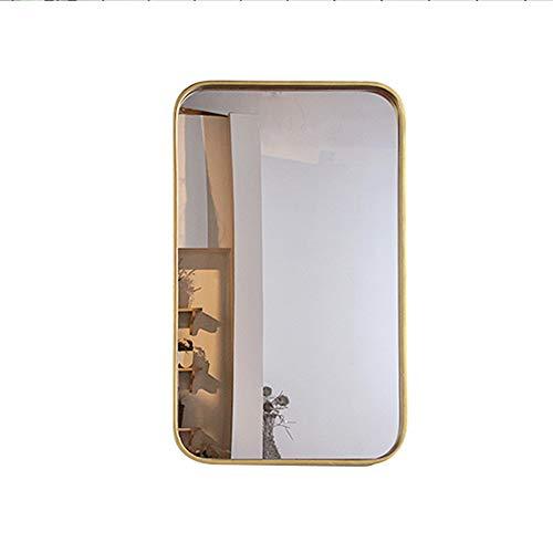 YHH-Mirror Wandmontierter Badezimmerspiegel Frisierkommode Kosmetikspiegel Wandspiegel Spiegel Schmiedeeisen Quadratischer Spiegel,50 * 80cm