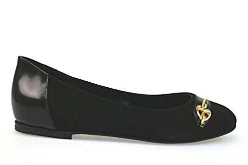 scarpe donna BRACCIALINI 37 ballerine nero camoscio AN49