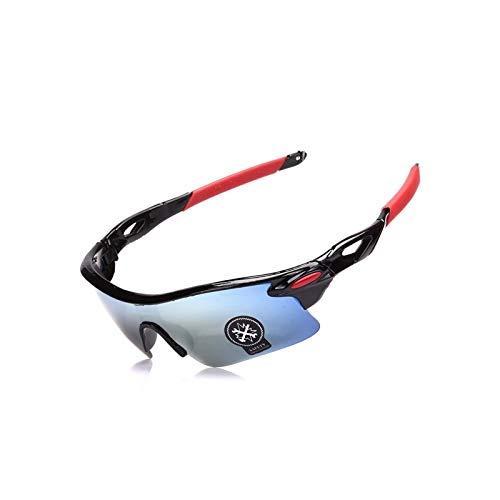 Radbrille Jugend Outdoor Mode Sport Bergsteigen Angeln Winddichte Brille Black Gold Damen Herren