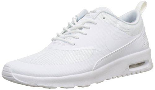 Nike Damen Wmns Air Max Thea Gymnastikschuhe - Grau (White/White/Pure Platinum 110), 38 EU (Womens Nike Sneakers)