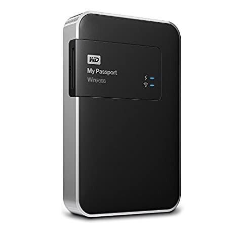 WD My Passport Wireless Disque Dur Externe Portable 1 To - WIFI USB 3.0 - WDBK8Z0010BBK-EESN