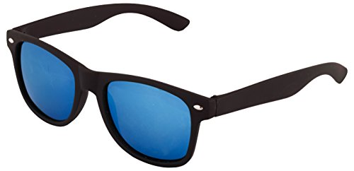 Addon Eyewear Mirrored Wayfarer Sunglasses for Men Women Boys Girls non Polarized Goggle-Stylish Blue Lens