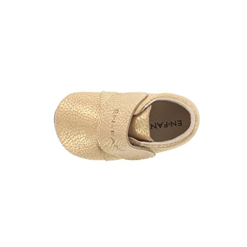 EnFant bébé mixte, chaussons à scratch, cuir, 815138 gold