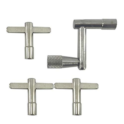 Healifty Metall Drum Skin Tuning Key Installation Regler Schlüssel mit Kontinuierliche Bewegung Geschwindigkeit Schlüssel (1 stück Z Geformt 3 stücke T Geformt)