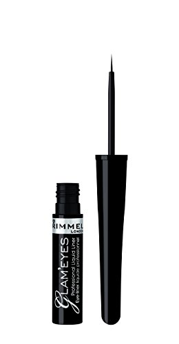 Rimmel London Glam'eyes Professional Liquid Liner, Black Glamour, 3.5 ml