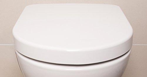 Bullseat 4.1 WC Sitz weiß D-Form • Absenkautomatik / Softclose • abnehmbar • easyclean • Toilettendeckel überlappend • Klobrille • hochwertiges Duroplast Test