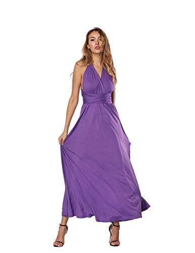 Damen Trägerlos Split Maxikleid Off Shoulder Lange Abendkleid Party Kleider