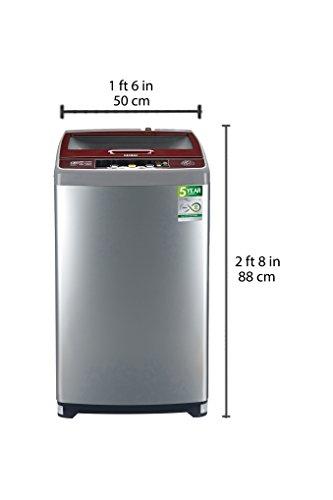 Haier 6.5 kg Fully-Automatic Top Loading Washing Machine (HWM65-707NZP, Silver Grey)