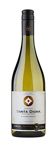 Santa Digna Chardonnay, Vino Blanco, 6 botellas de 75 cl - Total: 450 cl