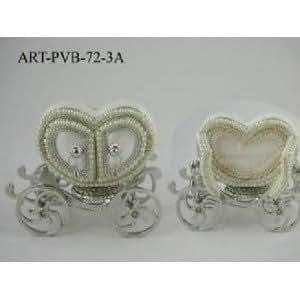 Fabriqué à la main-Charriot vrais oeufs Boîte à bijoux