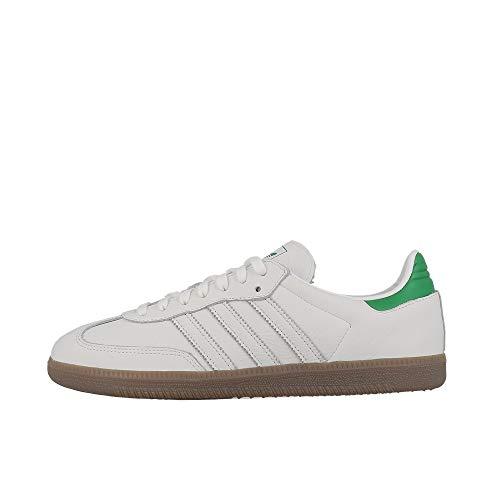 adidas Herren Samba Og Fitnessschuhe, Weiß (Ftwbla/Verde/Gum5 000), 43 1/3 EU