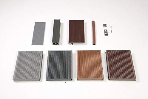 WPC Terrassendiele Premium Volldiele 123mygarden Muster Set diverse Farben und Zubehör -