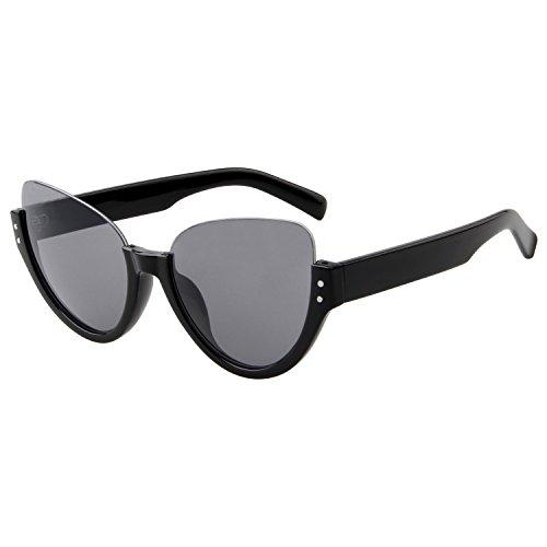 LianSan Einzigartige Aviator Sonnenbrille, halber Rahmen UV-Schutz Brillen ls4703schwarz
