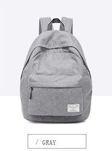 Diswa Classical Unisex Backpack for Women Nylon Child School Bag Special Use for Picnic 30 * 40 * 16 cm (Gray) Image 5