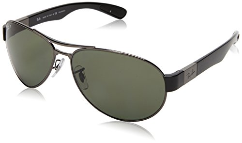 Ray-Ban Damen Sonnenbrille RB3509, Gr. 63 mm, Gunmetal/grün polarized
