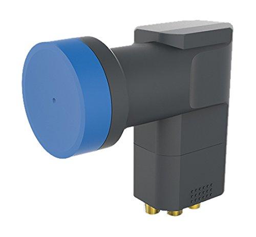 OPTICUM BLUE LQP-04H V2 quad LNB für vier Teilnehmer (Waßer/Frost/UV-Resistent, 40mm Feedhals, FullHD/4k HD/3D ready) schwarz