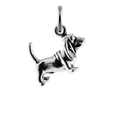 TheCharmWorks Sterling Silver Basset Hound Dog Charm