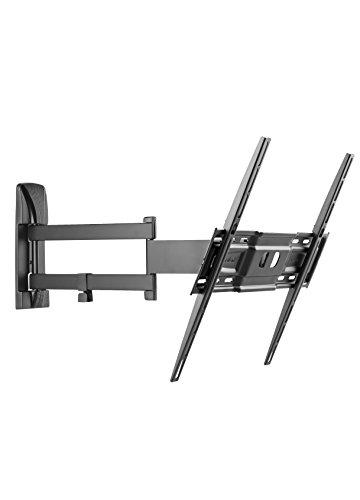 Meliconi slimstyle 400 sdr, supporto con doppio braccio ultra sottile da parete per tv a schermo piatto da 40'' a 80'', orientabile orizzontalmente e verticalmente, vesa 200x200, 300x300, 400x400