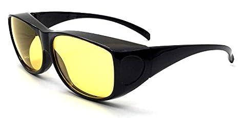 Überzieh-Nachtsicht-brille Unisex UV380 für Brillenträger Fit-Over Überbrille Sonnenbrille (Leichtem Polycarbonat-rahmen)
