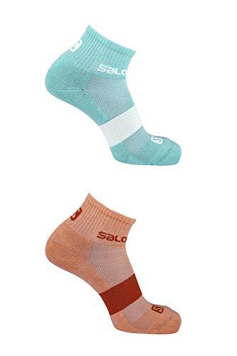 Preisvergleich Produktbild Salomon Evasion 2-Pack 2 Paar Niedrig geschnittene Socken,  Lachsfarben(DesertFlower),  Gr. L (42-44)
