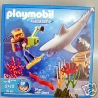 Playmobil Leisure Diver with Shark Playset