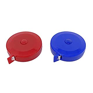 Soft Cloth Retractable Sewing Tape Measure – Pack of 2 Tailors, Dress Making, Household and Craft. 1.5m / 60 inch Round Fabric Tape with Casing