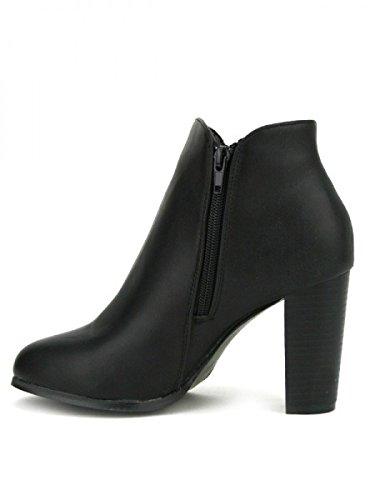 Cendriyon, Lows Boots Simili cuir Noir ETANA Chaussures Femme Noir