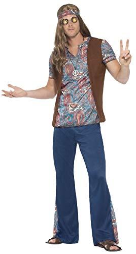 Fancy Me Herren 60er 70er Jahre Hippie Hippie 1960er 1970er Jahre Decade Peace Love Woodstock Karneval Kostüm Outfit